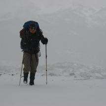 168 max ploeteren door de sneeuw