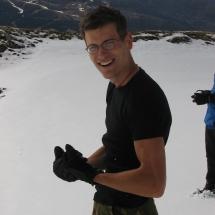 191 de macho in de sneeuw